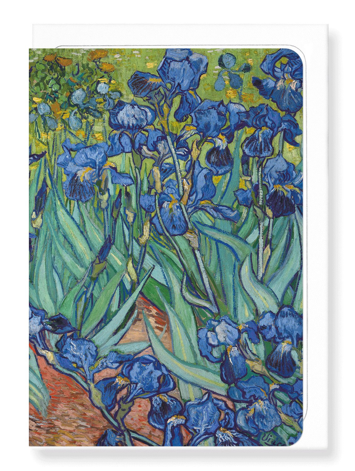 Ezen Designs - Irises by van gogh - Greeting Card - Front