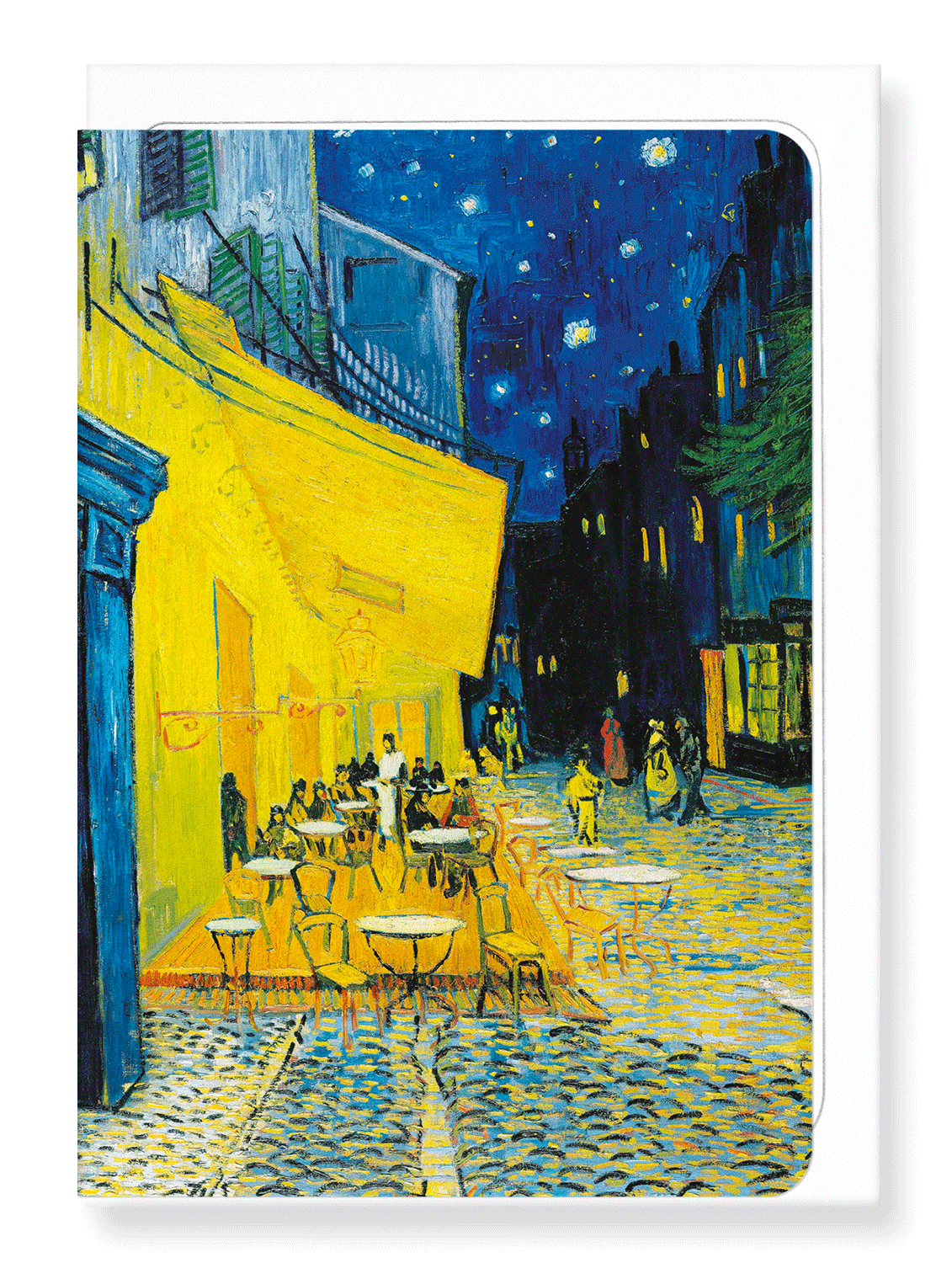 Ezen Designs - Café terrace at night by van gogh - Greeting Card - Front