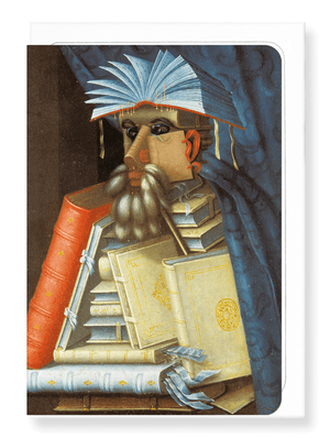 Ezen Designs - Librarian by arcimboldo - Greeting Card - Front
