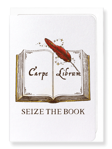 Ezen Designs - Seize the book - Greeting Card - Front