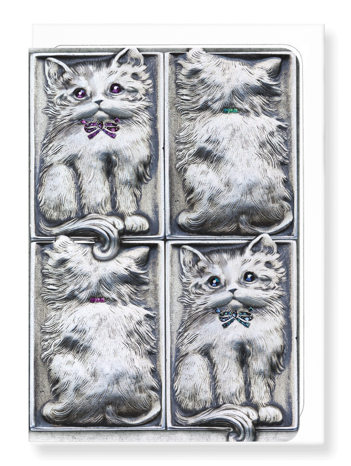 Ezen Designs - Enchanting cat - Greeting Card - Front