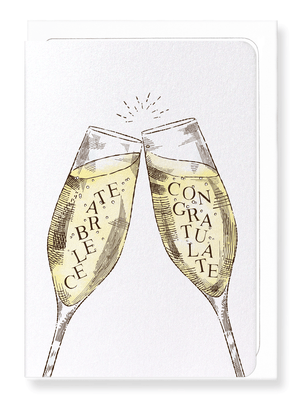 Ezen Designs - Celebrate with champagne - Greeting card - Front