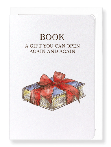 Ezen Designs - A book is a gift - Greeting Card - Front