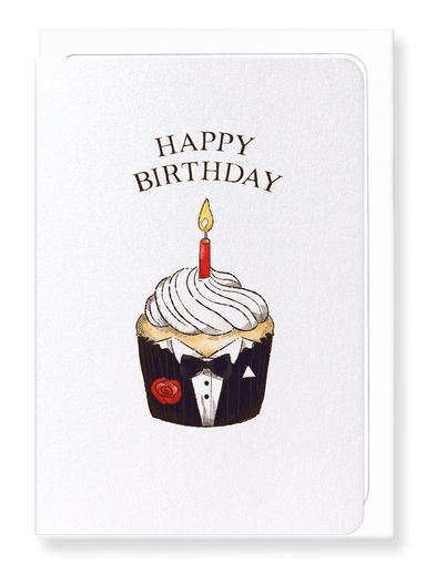 Ezen Designs - Birthday cupcake - Greeting Card - Front