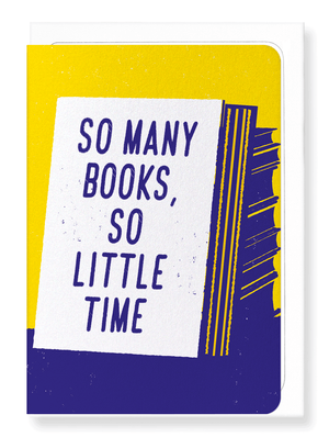 Ezen Designs - So many books - Greeting card - Front