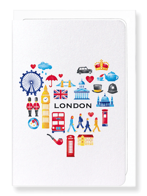Ezen Designs - HEART OF LONDON - Greeting card - Front