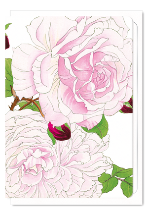 Ezen Designs - Pink rose - Greeting card - Front