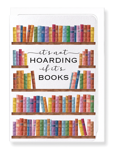 Ezen Designs - Hoarding books - Greeting Card - Front