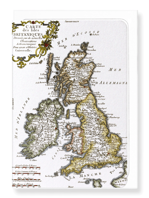 Ezen Designs - British isles (c.1760) - Greeting Card - Front