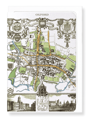 Ezen Designs - City of oxford (1837) - Greeting Card - Front