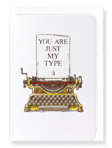 Ezen Designs - Just my type - Greeting Card - Front