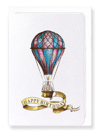 Ezen Designs - Birthday balloon - Greeting Card - Front