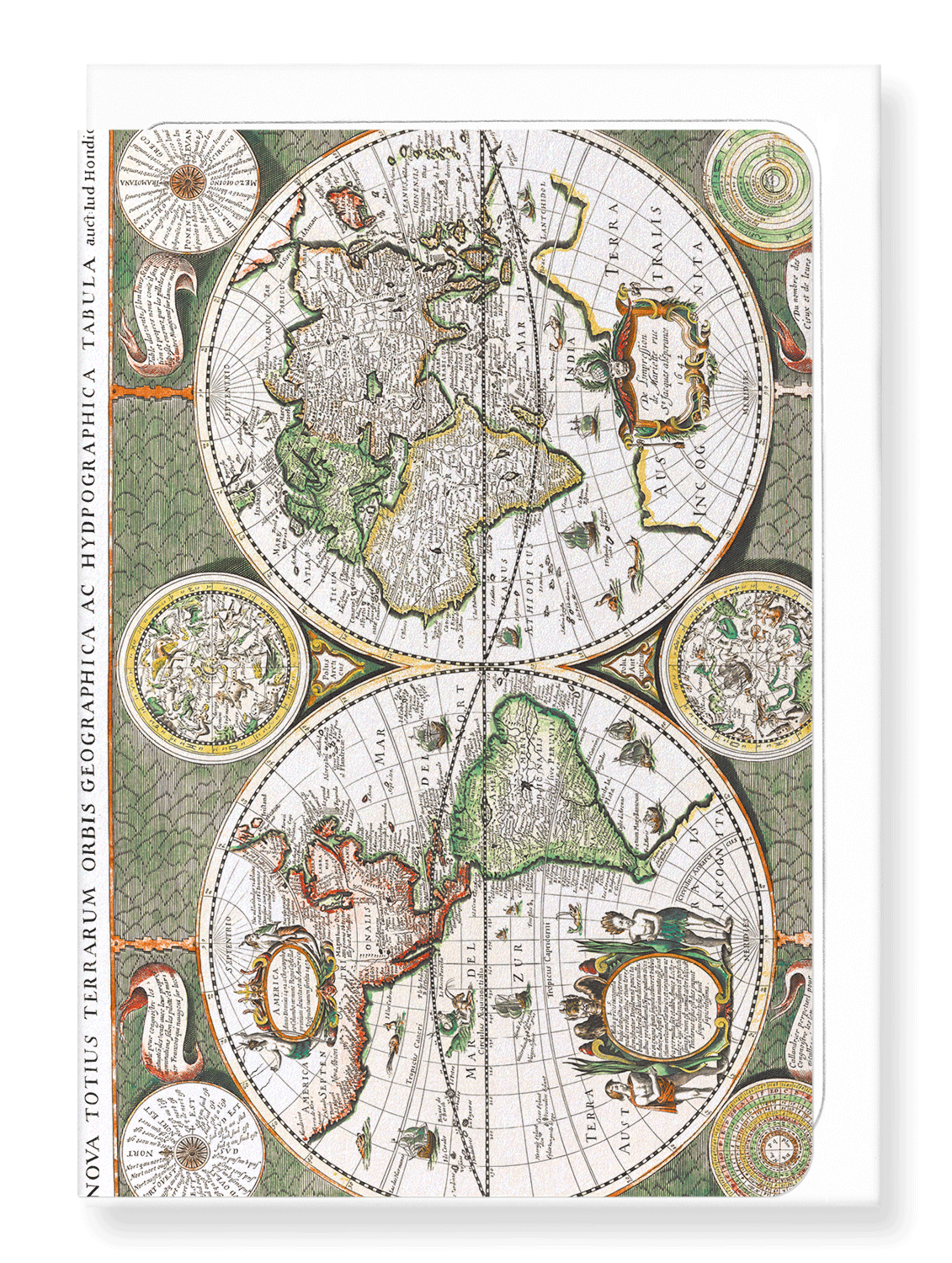 Ezen Designs - Terrarum orbis geographica (1643) - Greeting Card - Front