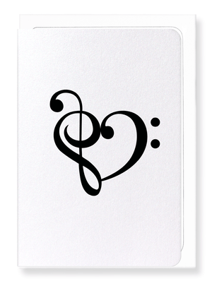 Ezen Designs - Treble bass heart - Greeting Card - Front