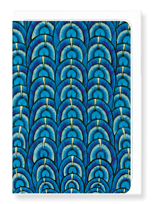 Ezen Designs - De Morgan peacock - Greeting card - Front