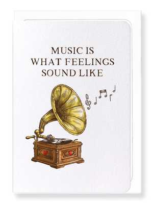 Ezen Designs - Gramophone music - Greeting card - Front