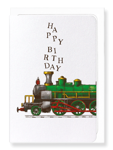 Ezen Designs - Happy birthday train - Greeting Card - Front