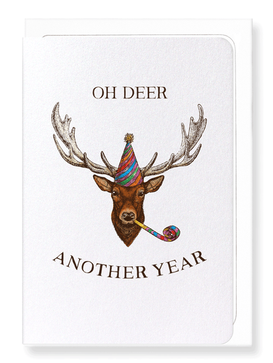 Ezen Designs - Oh deer another year  - Greeting Card - Front