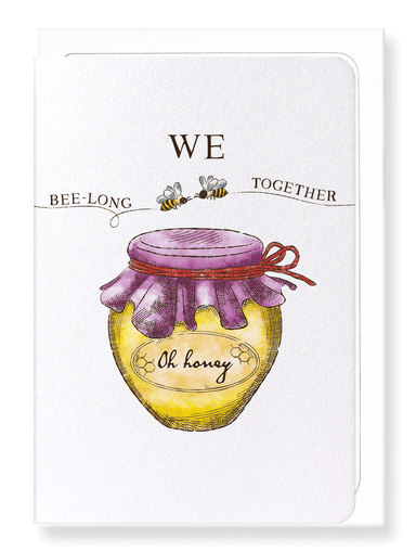 Ezen Designs - We bee-long together - Greeting Card - Front
