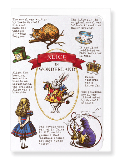 Ezen Designs - Alice in wonderland - Greeting Card - Front