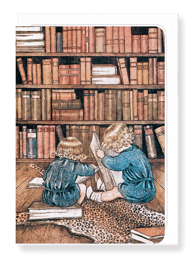 Ezen Designs - Bookworms by outhwaite - Greeting Card - Front