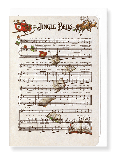 Ezen Designs - Jingle bells books - Greeting Card - Front