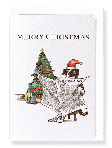 Ezen Designs - Reading Christmas Chronicle - Greeting Card - Front