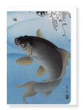 Ezen Designs - Carp and wisteria - Greeting card - Front