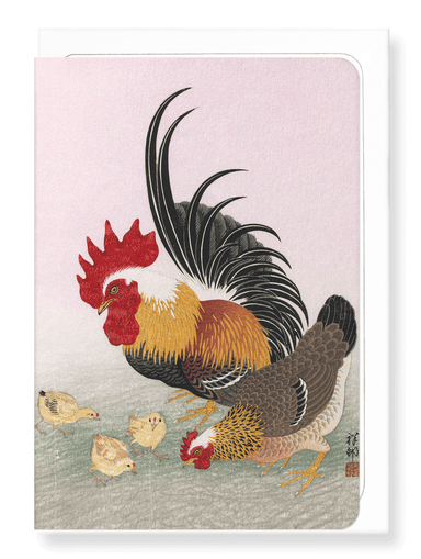 Ezen Designs - Rooster hen - Greeting Card - Front