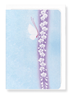 Ezen Designs - White butterfly*by Gyokuyu - Greeting Card - Front