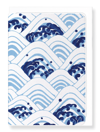 Ezen Designs - Sea of waves - Greeting Card - Front