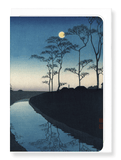 Ezen Designs - Canal by moonlight - Greeting Card - Front