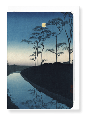 Ezen Designs - Canal by moonlight*by Shoda - Greeting Card - Front