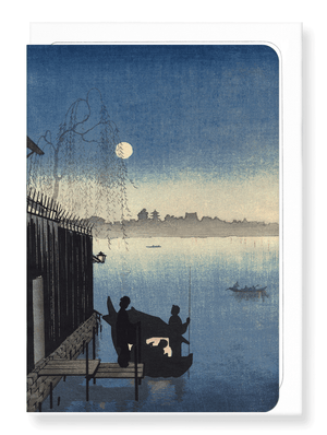 Ezen Designs - Evening by river*by Eijiro - Greeting Card - Front