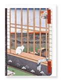 Ezen Designs - Asakusa rice fields cat*by Hiroshige - Greeting Card - Front