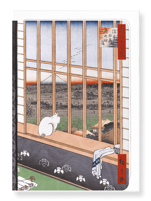 Ezen Designs - Asakusa rice fields cat - Greeting Card - Front