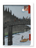 Ezen Designs - Bamboo quay*by Hiroshige - Greeting Card - Front