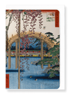 Ezen Designs - Kameido shrine*by Hiroshige - Greeting Card - Front