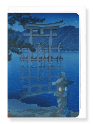 Ezen Designs - Starry night of miyajima - Greeting Card - Front