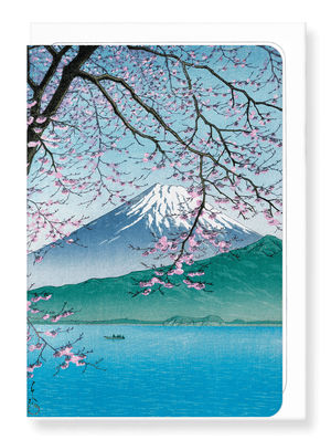 Ezen Designs - Mount fuji in*the spring - Greeting Card - Front