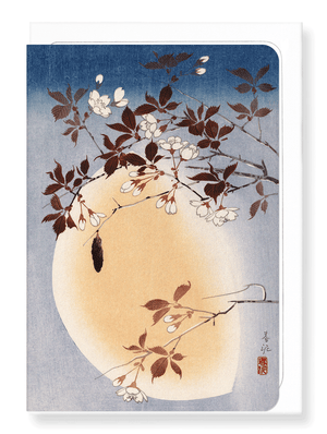 Ezen Designs - Blossoms and moon - Greeting Card - Front