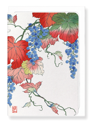 Ezen Designs - Grapes - Greeting Card - Front