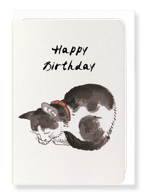 Ezen Designs - Happy birthday cat - Greeting Card - Front