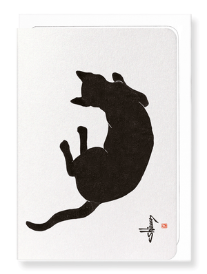 Ezen Designs - Crow with cherry blossom - Greeting Card - Front