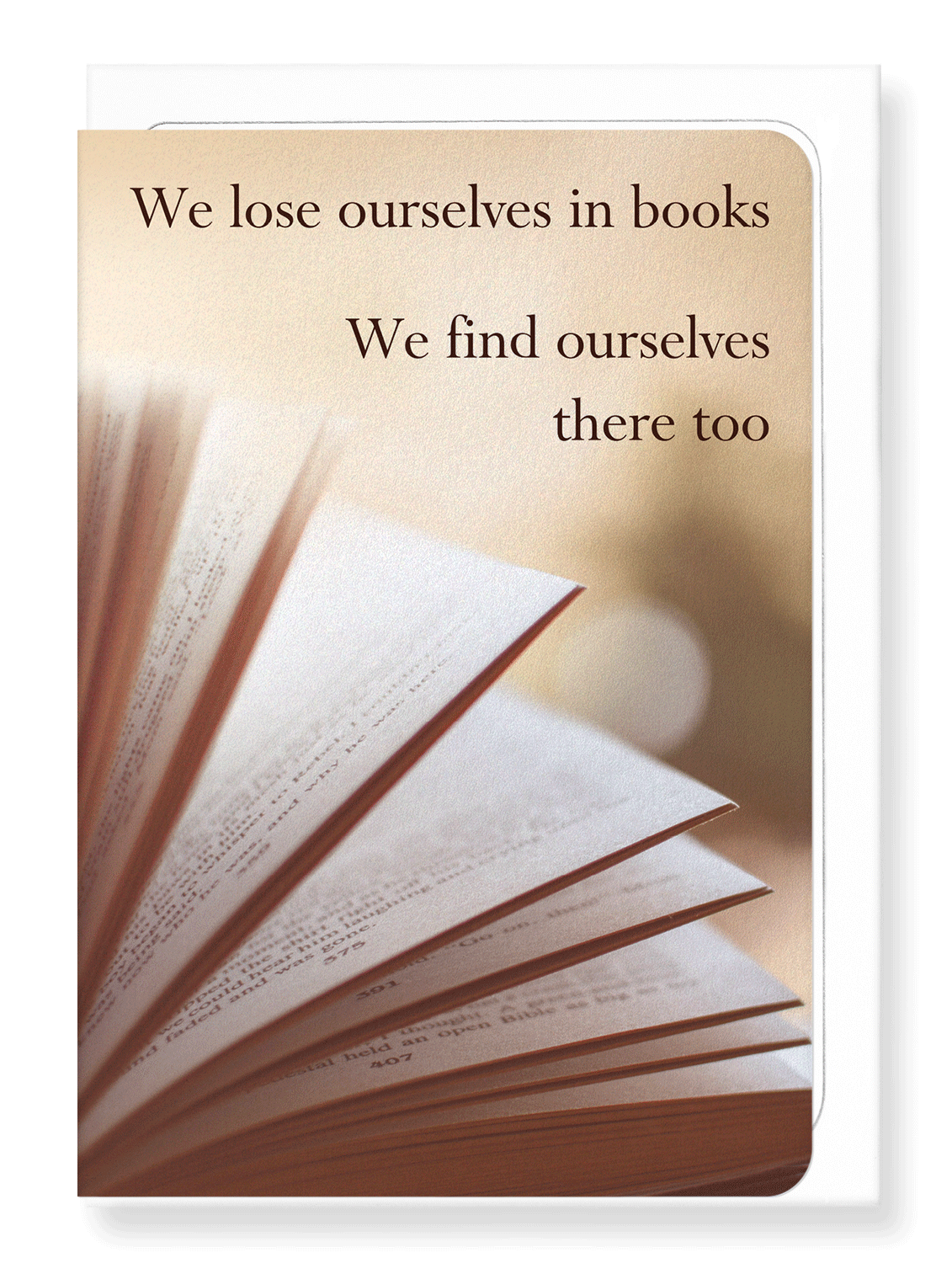 Ezen Designs - Finding ourselves in books - Greeting Card - Front
