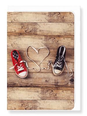 Ezen Designs - Shoelace of love - Greeting card - Front