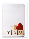 Ezen Designs - Cube of I love you - Greeting card - Front