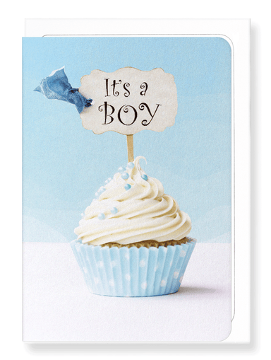 Ezen Designs - It's a boy cupcake - Greeting Card - Front