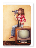 Ezen Designs - Kid and camcorder - Greeting Card - Front