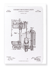 Ezen Designs - Patent of cistern for water closets (1898) - Greeting Card - Front
